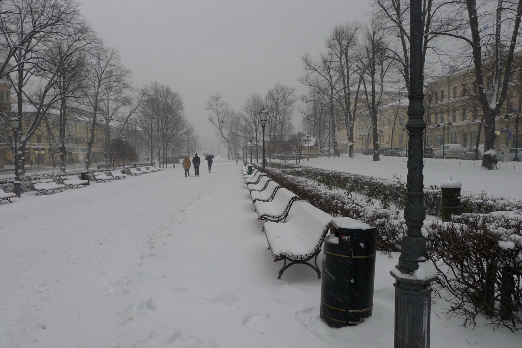 First of two pictures of walking in Helsinki (photo credit Jill Browne)